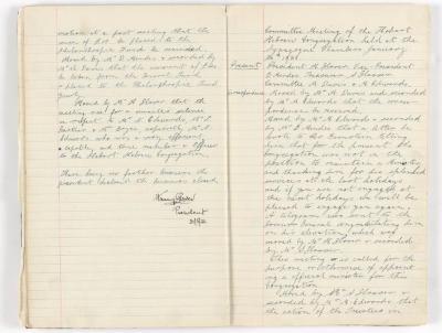 Meeting Minute Original Page, 11 May 1930 - 20 January 1931