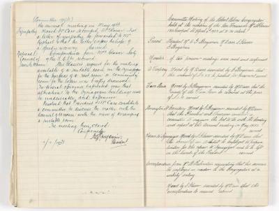 Meeting Minute Original Page, 19 January 1933 - 4 April 1933