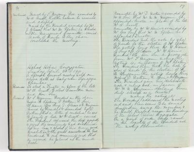 Meeting Minute Original Page, 8 January 1911 - 30 April 1911