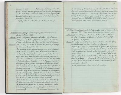 Meeting Minute Original Page, 3 April 1910 - 17 April 1910