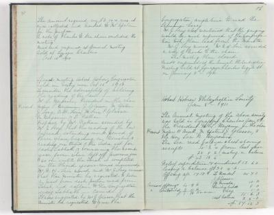 Meeting Minute Original Page, 16 October 1910 - 8 January 1911