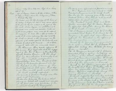 Meeting Minute Original Page, 23 September 1910