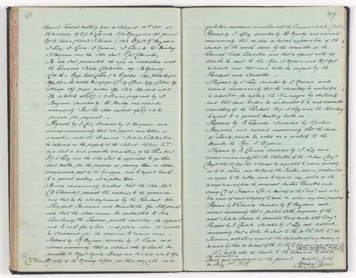 Meeting Minute Original Page, 18 August 1918