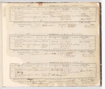 Marriage Register June 1840 to December 1840