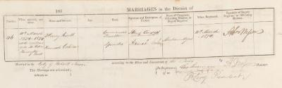 Henry Ansell & Hannah Cohen marriage record