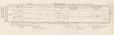 Saul Solomons & Julia Myers marriage record
