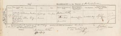 Bertram Nathan & Ellen Levy marriage record