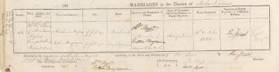 Abraham Myers & Esther Benjamin marriage record