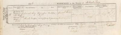 Samuel Levy & Sarah Casper marriage record