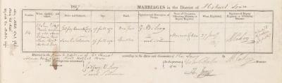 Godfrey Barnett Levy & Sarah Solomon marriage record