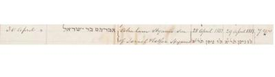 Abraham Hyams death record