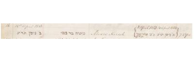 Moses Hirsch death record