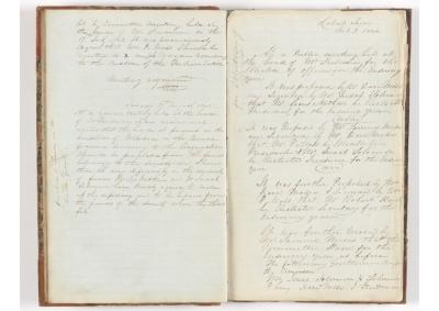 Meeting Minute Original Page, 17 July 1842 - 3 October 1842