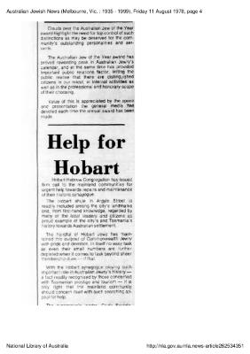 Help for Hobart