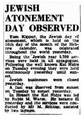 Jewish Atonement Day observed
