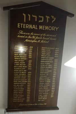 Harrington St. cemetery memorial board