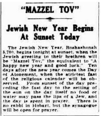 Mazzel Tov: Jewish New Year begins at sunset today