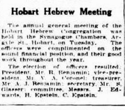 Hobart Hebrew Meeting