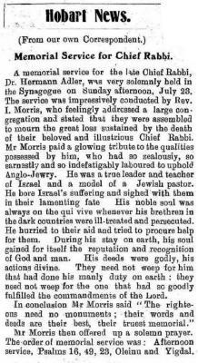 Hobart News.