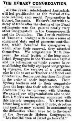 The Hobart congregation