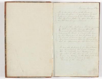 Meeting Minute Original Page, 16 January 1842