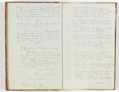 Meeting Minute Original Page, 26 December 1841 to 2 January 1842