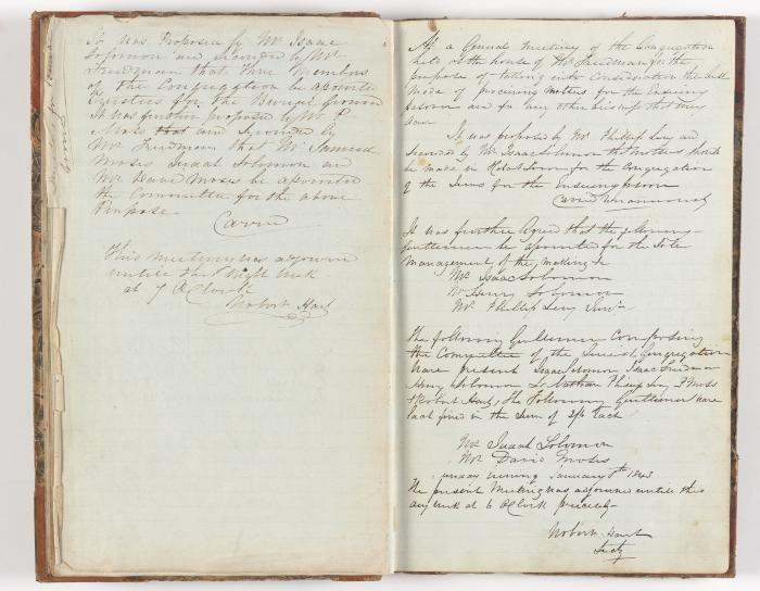 Meeting Minute Original Page, 3 October 1842 - 8 January 1843