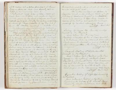 Meeting Minute Original Page, 9 August 1843 - 17 September 1843