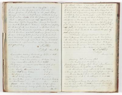 Meeting Minute Original Page, 8 January 1846 - 26 January 1846