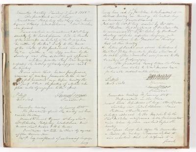 Meeting Minute Original Page, 3 January 1850 - 14 January 1850