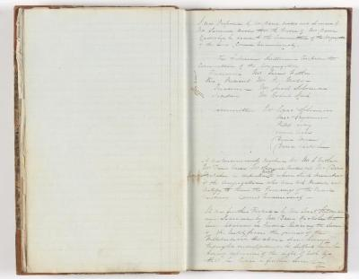 Meeting Minute Original Page, 11 April 1843