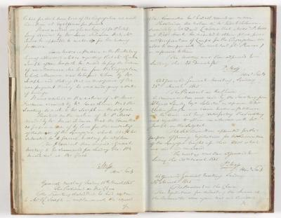 Meeting Minute Original Page, 9 March 1845 - 30 March 1845