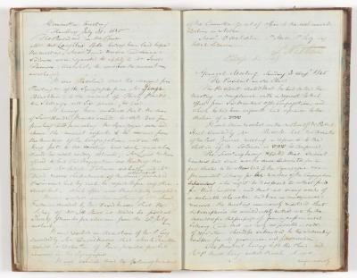 Meeting Minute Original Page, 31 July 1845 - 3 August 1845