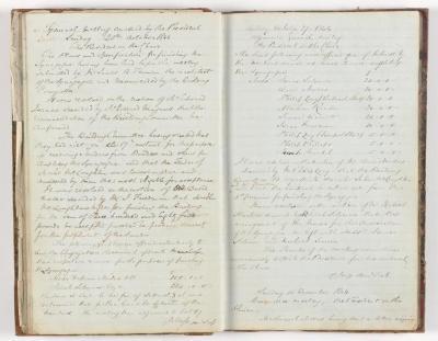 Meeting Minute Original Page, 20 October 1844 - 15 December 1844