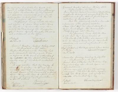 Meeting Minute Original Page, 27 June 1850 - 29 July 1850