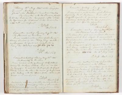 Meeting Minute Original Page, 18 May 1845 - 17 June 1845