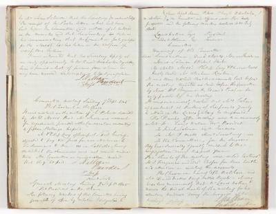 Meeting Minute Original Page, 28 August 1845 - 7 September 1845