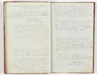 Meeting Minute Original Page, 11 April 1843 - 1 May 1843
