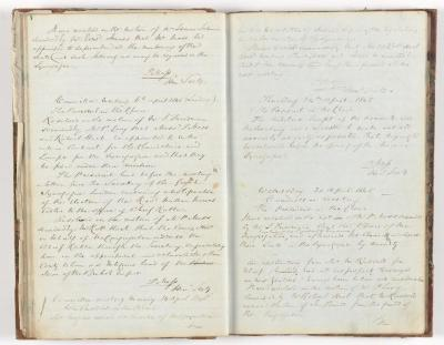 Meeting Minute Original Page, 30 March 1845 - 30 April 1845