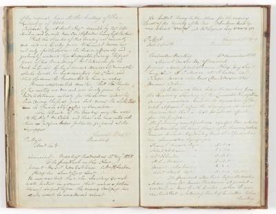 Meeting Minute Original Page, 18 August 1850 - 6 November 1850