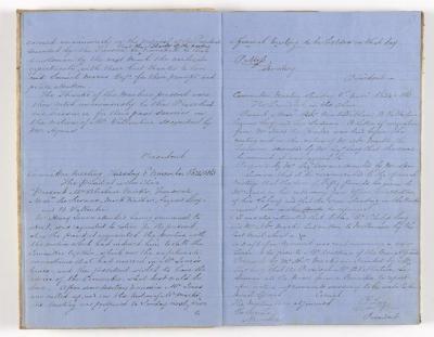 Meeting Minute Original Page, 10 August 1863 - 8 November 1863