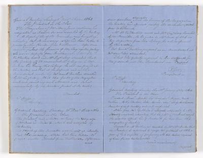Meeting Minute Original Page, 8 November 1863 - 10 January 1864