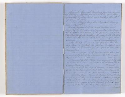 Meeting Minute Original Page, 10 August 1863