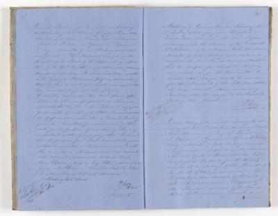 Meeting Minute Original Page, 29 January 1871 - 31 January 1871